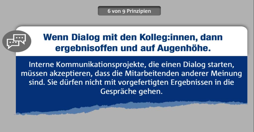 Interne Kommunikation mit Weitblick gestalten - Prinzip 6