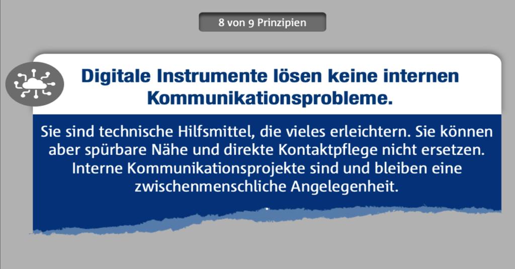 Interne Kommunikation mit Weitblick gestalten - Prinzip 8
