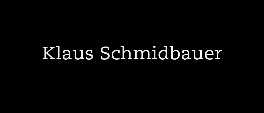 Nachruf auf Klaus Schmidbauer