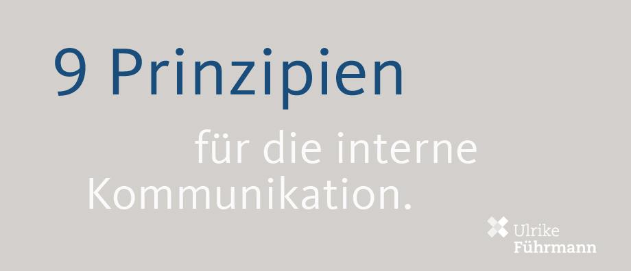 Prinzipien für die interne Kommunikation
